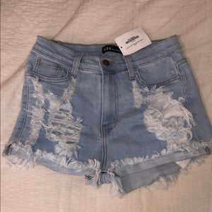 Gia Monae Shorts Light Wash size M